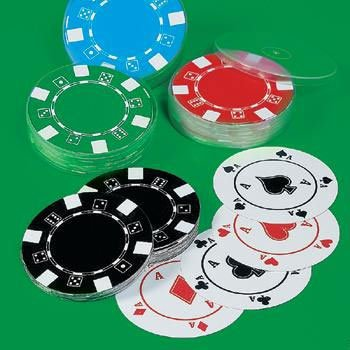 Poker Chip Playing Cards (1ct)
