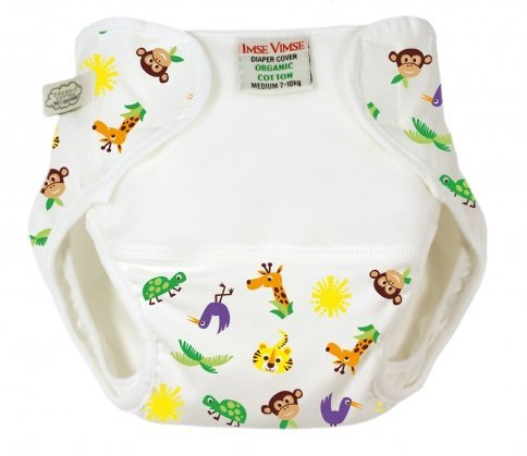 Imse Vimse Diaper Cover Organic Cotton - Jungle P 4.5-9 lbs.