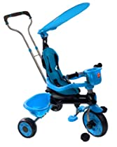 My-Trike MT-20 3-in-1 Canopy Stroller Tricycle with Padded Seat Cover, Blue