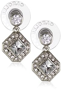 "Carolee ""Crystal Basics"" Cubic Zirconia Small Double Drop Earrings"