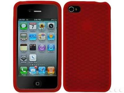 Cellet Jelly Case for Apple iPhone 4, Fits AT&T iPhone (Red)