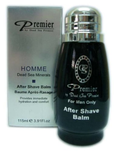 Premier Dead Sea Aftershave Balm with Aromatic Oils, 3.9Fluid Ounce