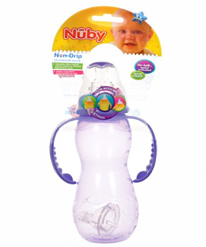 Nuby Non-Drip Standard Neck Bottle - purple, one size