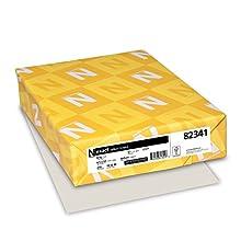 Neenah Exact Vellum Bristol Cardstock, 67 lb, 8.5 x 11 Inches, 250 Sheets, Gray