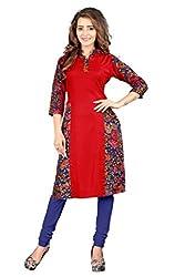 Shivam Women's Poly Cotton Kurti (DGD65_Multi-Coloured_38)