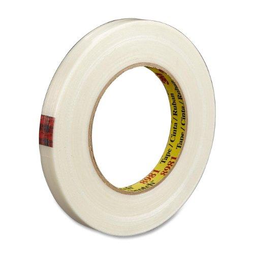 Scotch 898134 High-Performance Filament Tape, 300 b/in Tensile Strength, 55 m Length x 18 mm Width, Clear scotch high strength filament tape 94 x 60yds 89811 dmi rl