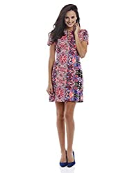 Prym Women's Floral Mirrored Print Dress (1011507701_Multi_X-Large)