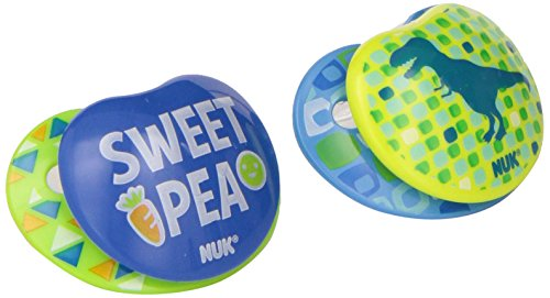 NUK Small Talk Big Button Pacifier in Assorted Colors and Styles, 0-6 Months