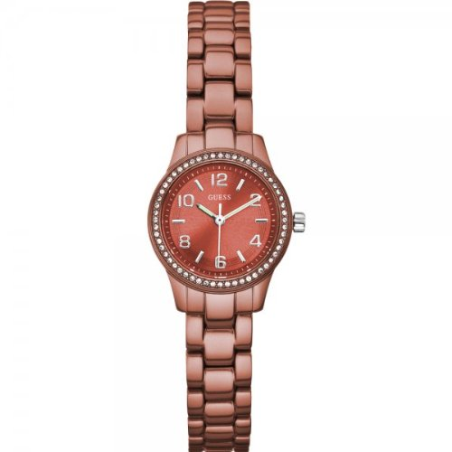 Guess Ladies Orange Aluminium Bracelet Watch W80074L3