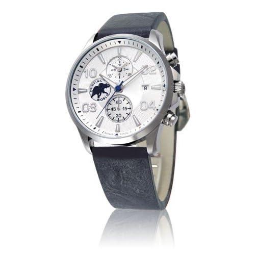 [ハンティングワールド]HUNTING WORLD 腕時計 クラシックマジック ホワイトダイアル クロノグラフ メンズサイズ [並行輸入品]