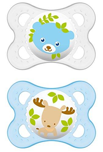 """MAM 542411 - Ciuccio """"Original"""" in silicone per bambini da 0 a 6 mesi, senza BPA, confezione doppia, colori assortiti"""