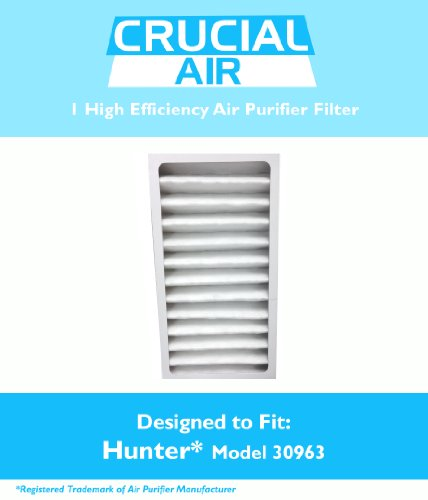 1 Hunter 30710, 30711, 30715, 30716, 30717 & 30730 Air Purifier Filter, Part # 30963, Designed & Engineered by Crucial Air
