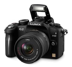 Panasonic Lumix DMC-G2 12.1 MP Live MOS Mirrorless Digital Camera with 3-Inch Touch Screen LCD and 14-42mm Lumix G VARIO f/3.5-5.6 MEGA OIS Lens (Black)