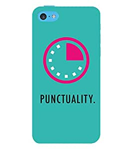 99Sublimation Punctuality 3D Hard Polycarbonate Back Case Cover for Apple iPhone 5c