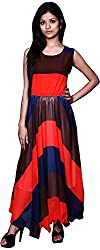 Trendz Today Women's Long Gown (GT09, Multi, Large)