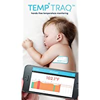 TempTraq Smart Thermometer - 24 Hour Wearable Temperature Tracker with Mobile Alerts