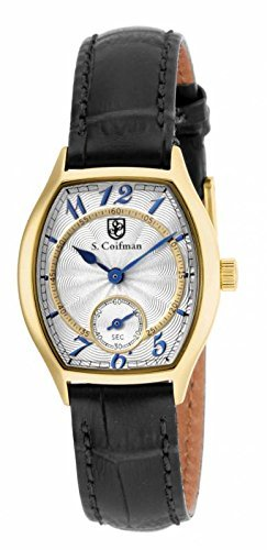 Invicta S. Coifman White Dial Black Leather Ladies Watch SC0326