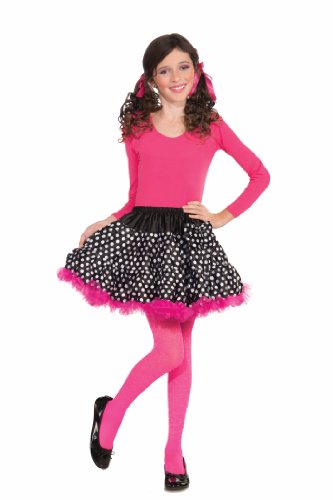 Forum Novelties Black and White Polka Dot Tutu Costume, Child Size