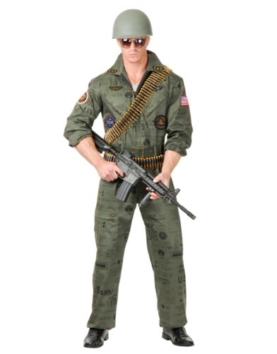 Charades Top Gun Military Man Adult Costume