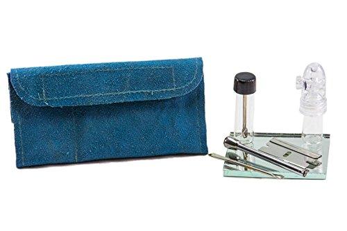 Leather Snuff Kit (Aqua) (Snuff Bottle Spoon compare prices)