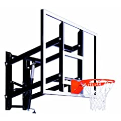 Goalsetter GS60 Wall Mounted Adjustable Basketball System with 60-Inch Glass... by Goalsetter