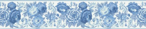 Brewster 418B341 Borders And More Petit Jacobean Scroll Wall Border, 5.25-Inch By 180-Inch