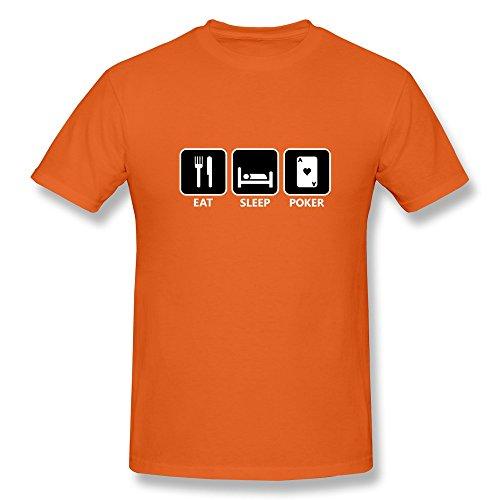 Ptcy Guy T Shirts Eat Sleep Poker Us Size S Orange front-539926