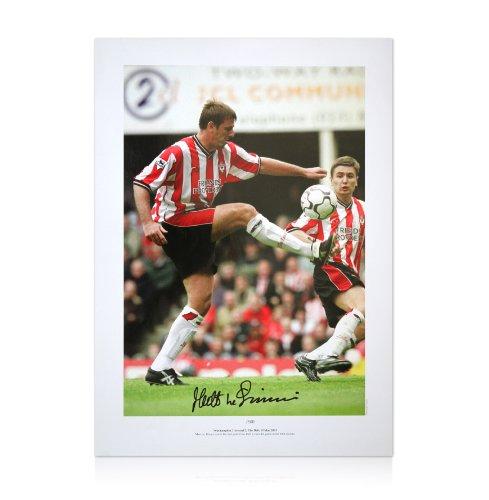 Matt Le Tissier signed Southampton photo - Last goal at the Dell