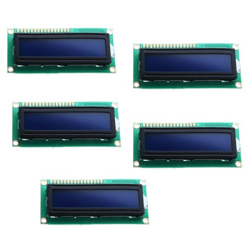 Toogoo(R) 5X 1602 16X2 Character Lcd Lcm Display Module Hd44780 Controller Blue Backlight