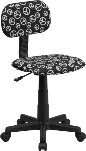 Flash Furniture Bt-Peace-Gg Peace Sign Printed Computer Chair