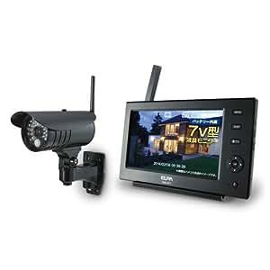 ELPA ワイヤレス防犯カメラ&モニターセット CMS-7110
