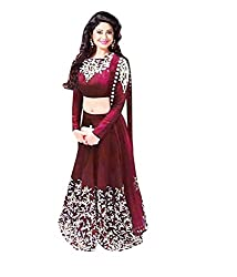 Bhavya Enterprise Red Georgatte Lehenga
