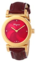 Salvatore Ferragamo Women's F50SBQ5008I SB08 Salvatore Gold Ion-Plated Stainless Steel Maroon Mother-Of-Pearl Watch from Salvatore Ferragamo