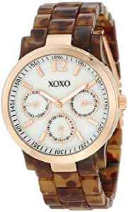 XOXO Women's XO5510 Tortoise Bracelet with Rose Gold Case Watch