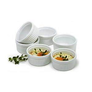 Norpro 258 Porcelain 3-Ounce Ramekins, Set of 6 by Norpro