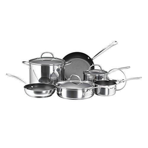 Farberware Millennium Stainless Steel Nonstick 10-Piece Cookware Set (Farberware Glass Top compare prices)