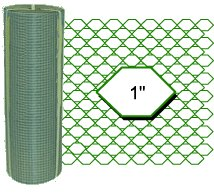 PVC Coated Wire Netting 500x25x50mt Green Chicken Wire 500mm wide 1