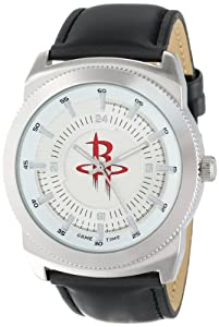 Game Time Mens NBA-VIN-HOU Vintage NBA Series Houston Rockets 3-Hand Analog Watch by Game Time