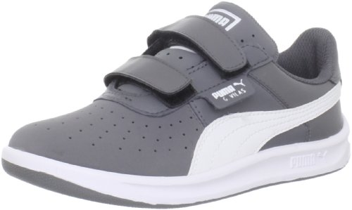 Puma G Vilas 2 V Sneaker (Toddler/Little Kid/Big Kid),Steel Grey/White,10 M US Toddler
