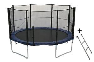 Trampoline 305cm et son filet de sécurité - échelle incluse - Trampoline de jardin | Qualité PRO. | Normes EU | Neuf dans son emballage d'origine