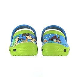 crocs SS13 Phineas Ferb Clog (Toddler/Little Kid),Volt Green/Ocean,4 M US Toddler
