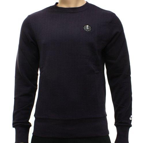 Nike Mens Purple Pinwheel Crew Sweatshirt Size L