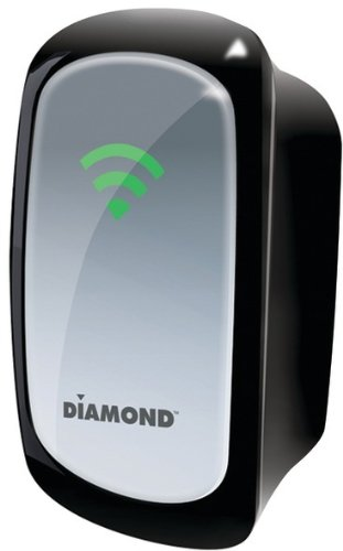 Diamond - Wireless 802.11 300Mbps Range Extender/Repeater With Signal Indicator