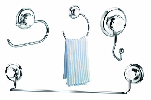 Famous Home Fashions EZ Hold Suction London 4-Piece Bath Set