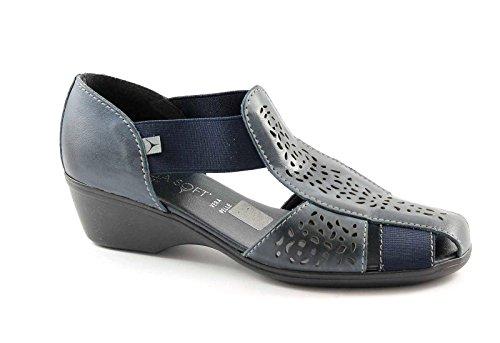 CINZIA SOFT 8050ZK oceania blu scarpe sandali donna comfort passeggio 38