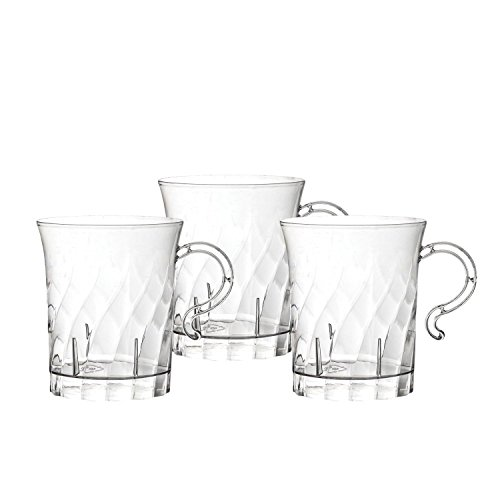 Party Essentials 10 Count Hard Plastic Swirled Coffee Cups, 8 oz, Clear (Elegant Coffee Cups compare prices)