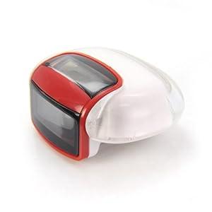tragbarer solar Schritt-Zähler Rot / Weiß ideal für Sportler, Schrittzähler, Pedometer mit LCD Display, step - counter, stepcounter, Jogger, Solar - Schrittzähler, Kalorienmesser, Schrittmesser, Entfernungsmesser, misst Entfernung, Marke: Incutex
