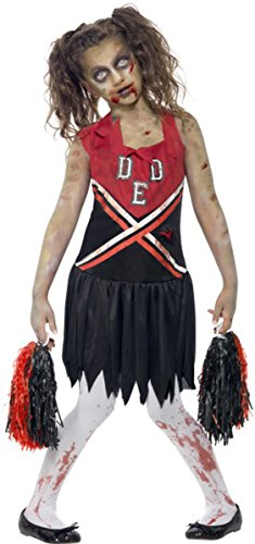 Girls-Halloween-Fancy-Dress-Zombie-Cheerleader-Costume-Complete-Dress