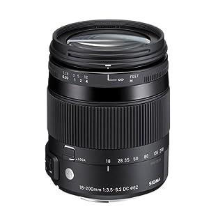 Sigma 18-200mm F3,5-6,3 DC Makro OS HSM Objektiv (Filtergewinde 62mm) für Canon Objektivbajonett
