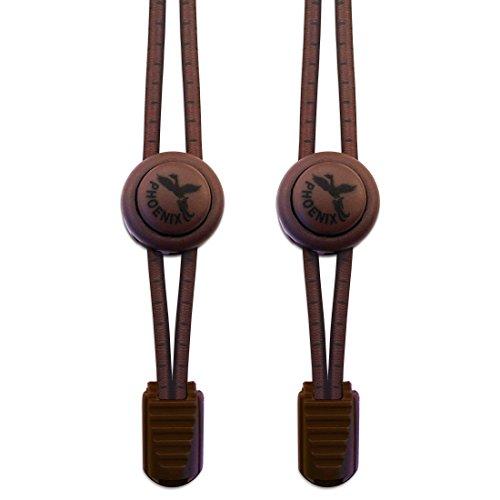 Phoenix-Fit, senza elastico, con sistema di chiusura facile da usare in vari colori. Perfetto per corridori, bambini e anziani g & di vita attivo, 1 paio Chestnut Brown